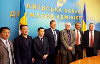 CWPC Int'l CEO and Cindrigo Chairman with team together with Governor Kiev Region.